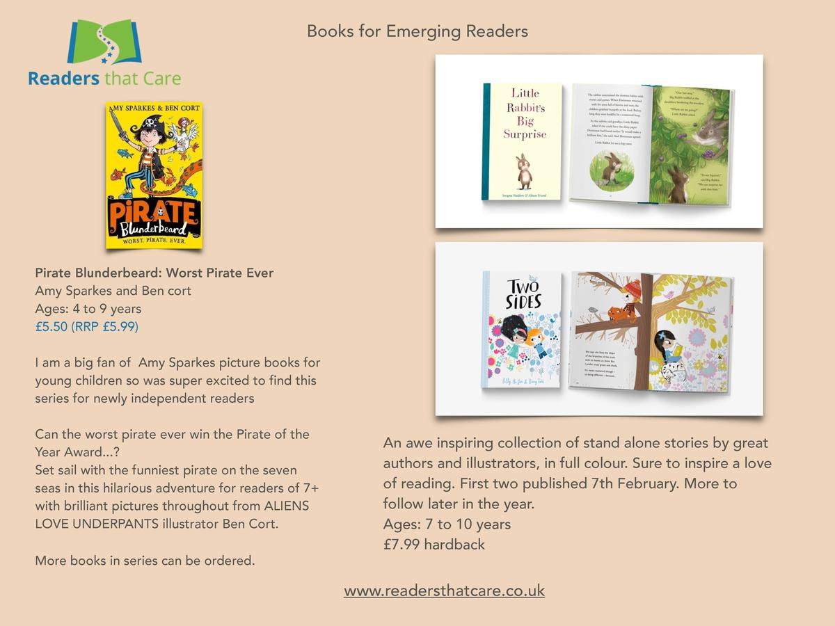 Books for Emerging Readers  Pirate Blunderbeard  Worst Pirate Ever Amy Sparkes and Ben cort Ages  4 to 9 years   5.50  RRP...