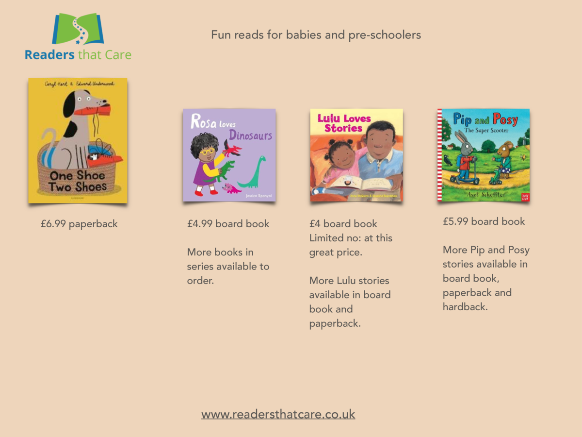 Fun reads for babies and pre-schoolers    6.99 paperback    4.99 board book More books in series available to order.    4 ...