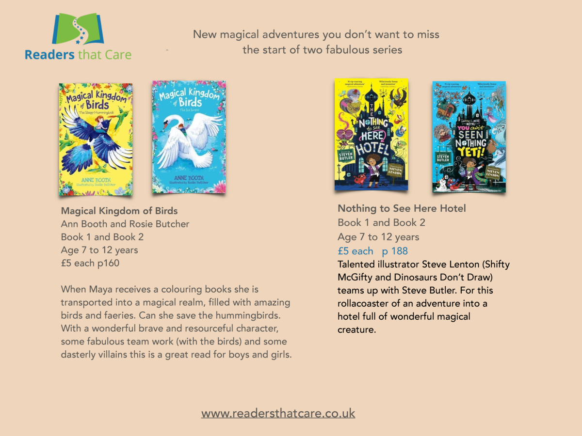 -  New magical adventures you don   t want to miss the start of two fabulous series  Nothing to See Here Hotel Book 1 and ...