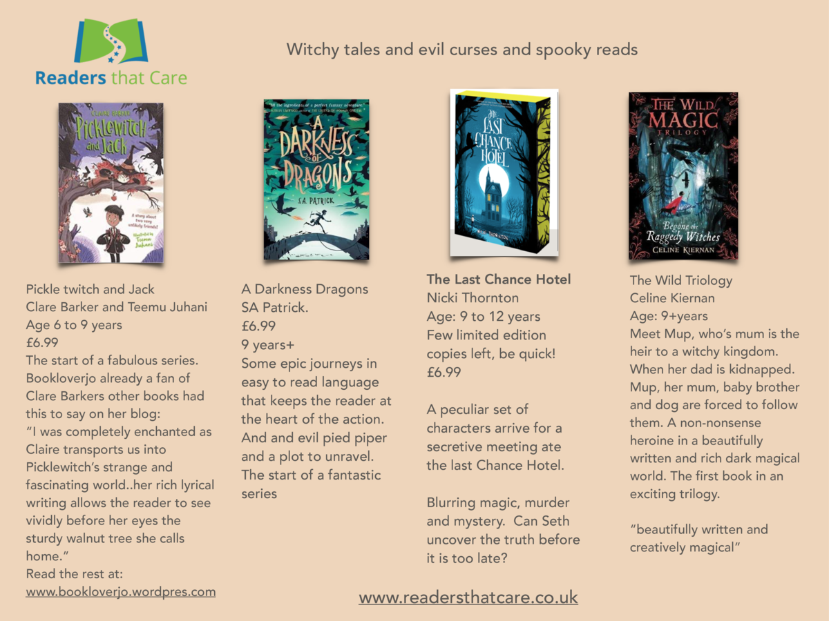 Witchy tales and evil curses and spooky reads  Pickle twitch and Jack Clare Barker and Teemu Juhani Age 6 to 9 years   6.9...
