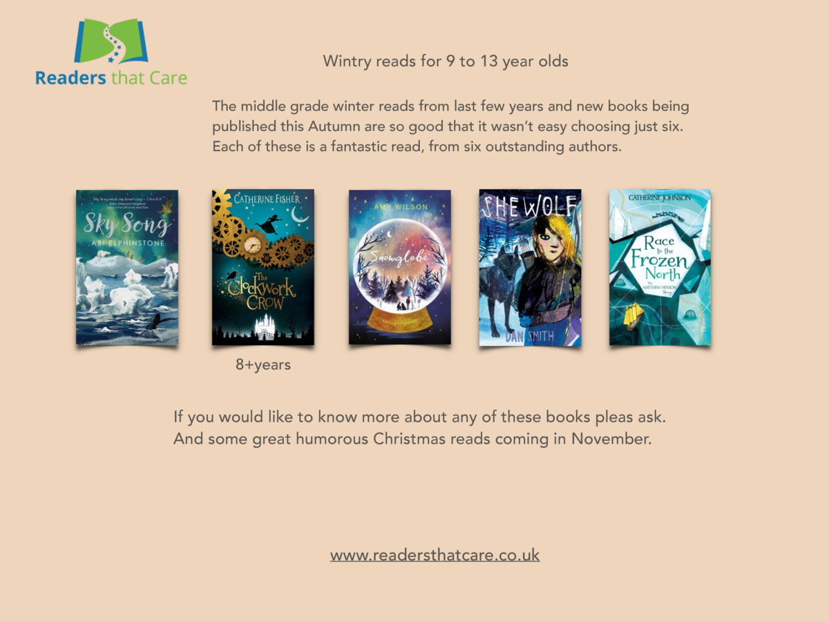 Wintry reads for 9 to 13 year olds The middle grade winter reads from last few years and new books being published this Au...