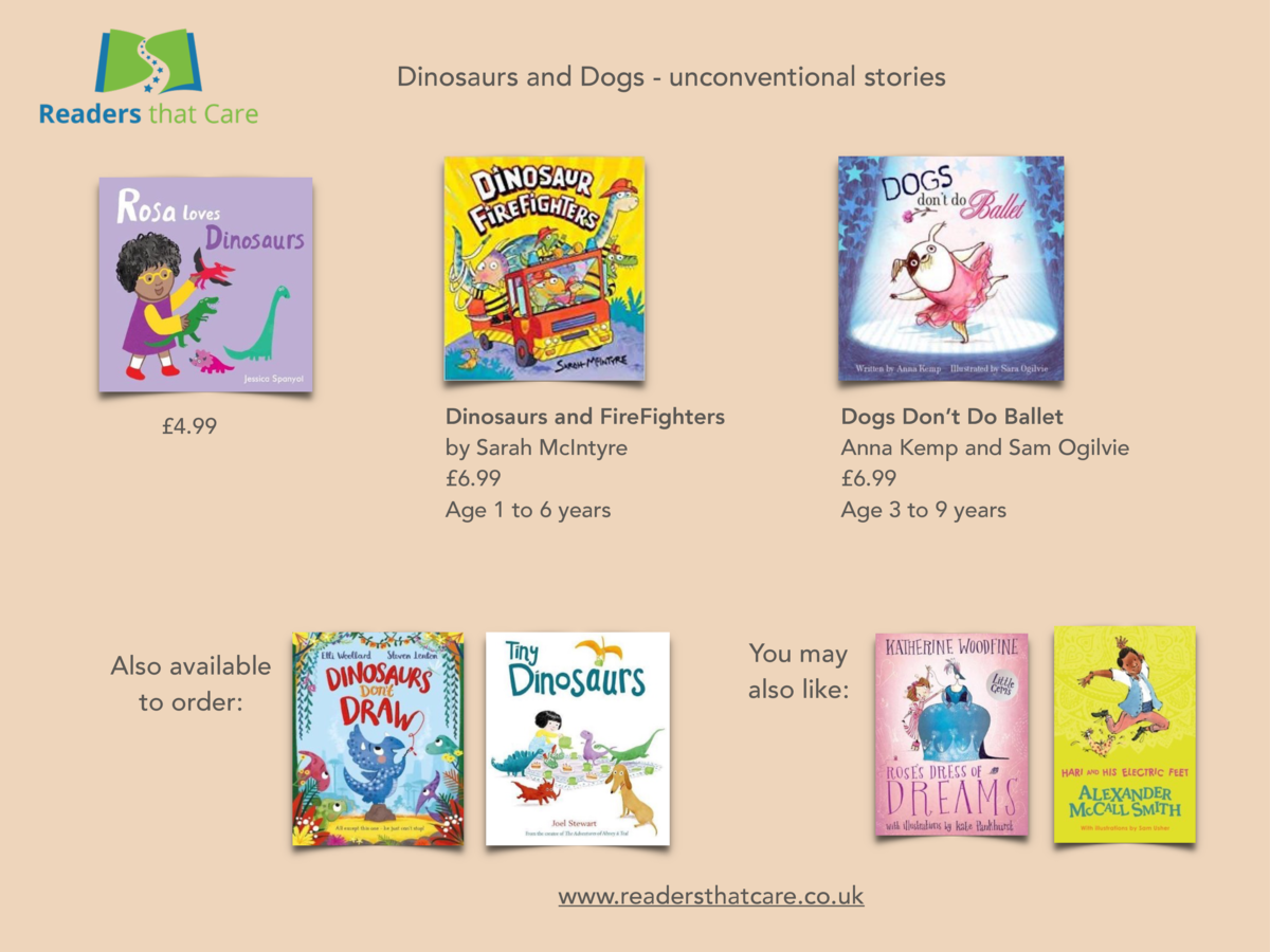 Dinosaurs and Dogs - unconventional stories    4.99  Also available to order   Dinosaurs and FireFighters by Sarah McIntyr...