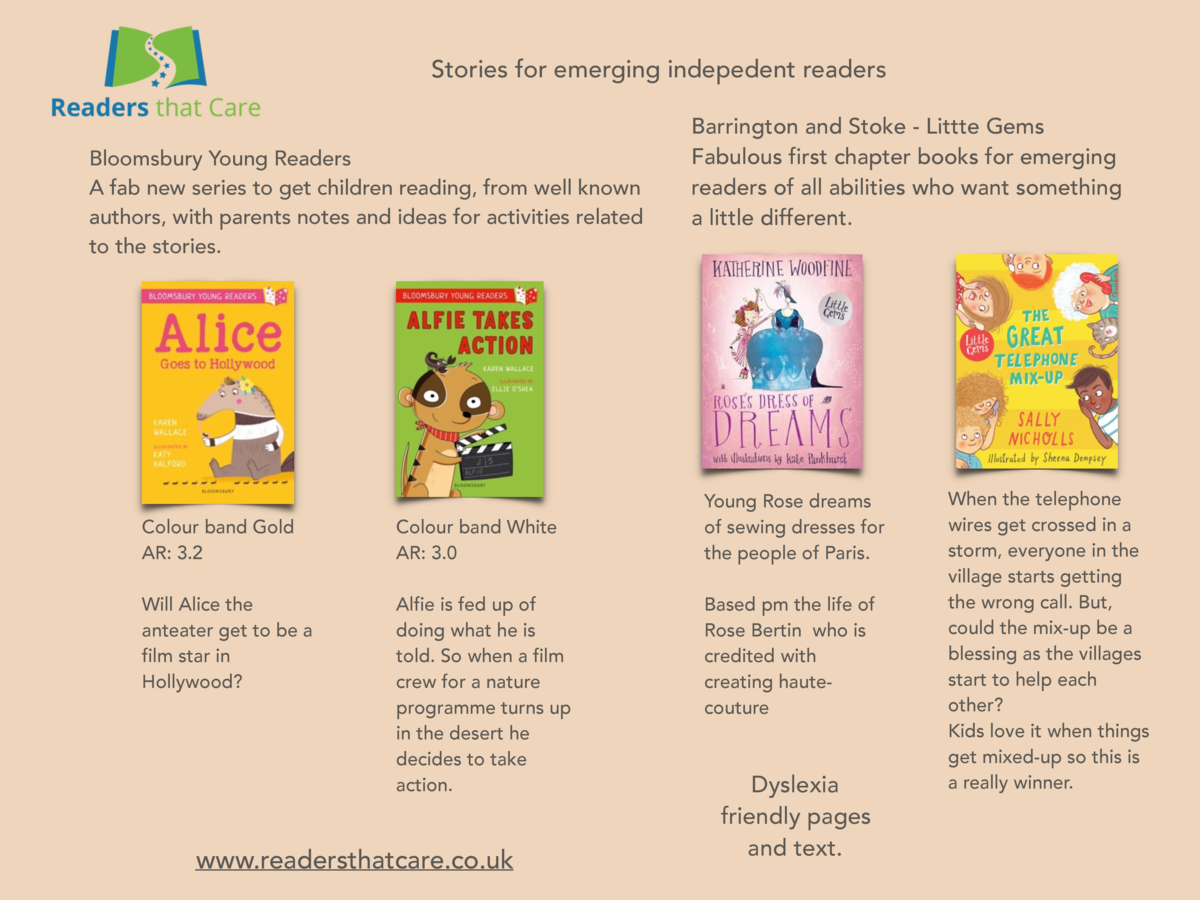 Stories for emerging indepedent readers Bloomsbury Young Readers A fab new series to get children reading, from well known...