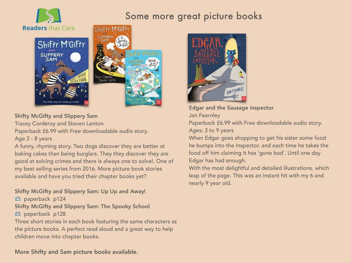 Some more great picture books  Shifty McGifty and Slippery Sam Tracey Corderoy and Steven Lenton Paperback   6.99 with Fre...