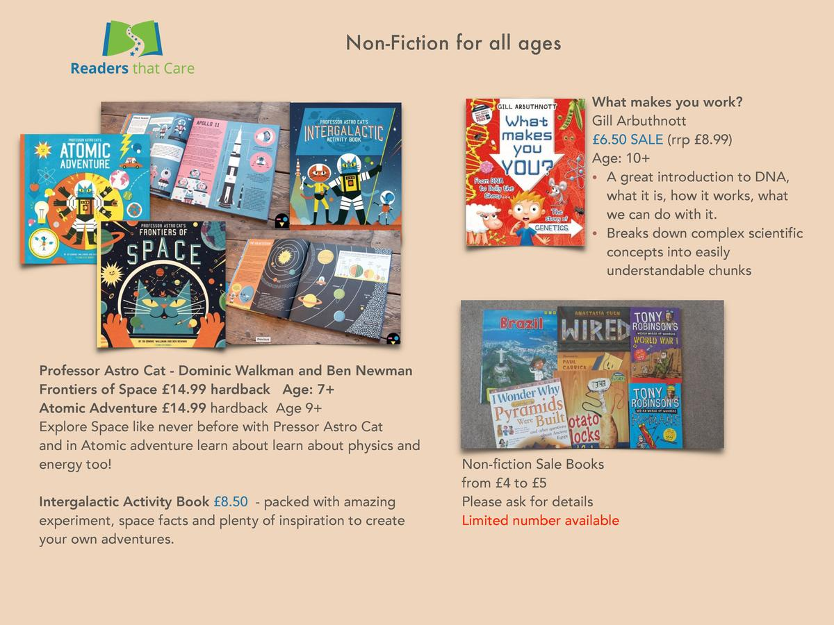 Non-Fiction for all ages What makes you work  Gill Arbuthnott   6.50 SALE  rrp   8.99  Age  10      A great introduction t...