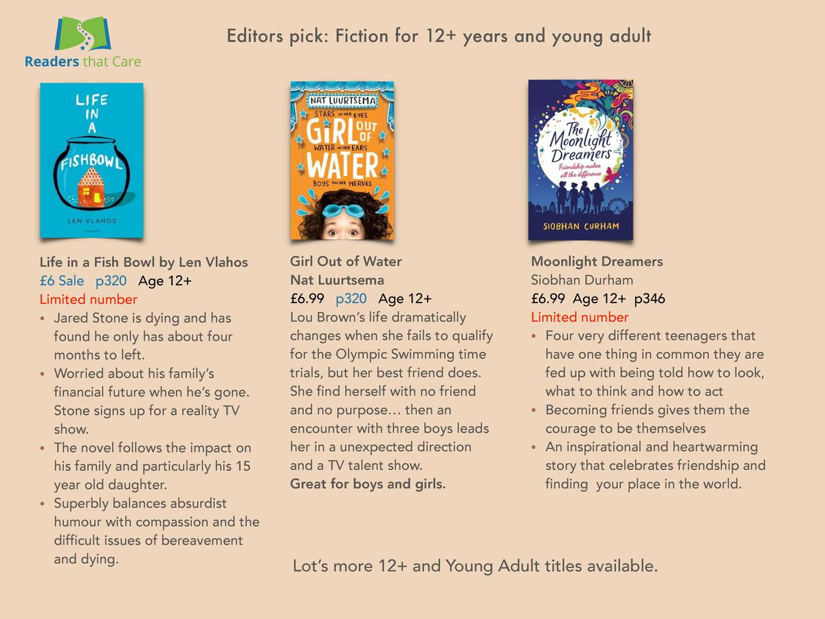 Editors pick  Fiction for 12  years and young adult  Life in a Fish Bowl by Len Vlahos   6 Sale p320 Age 12  Limited numbe...