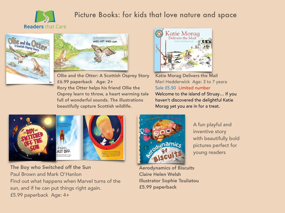 Picture Books  for kids that love nature and space  Ollie and the Otter  A Scottish Osprey Story   6.99 paperback Age  2  ...