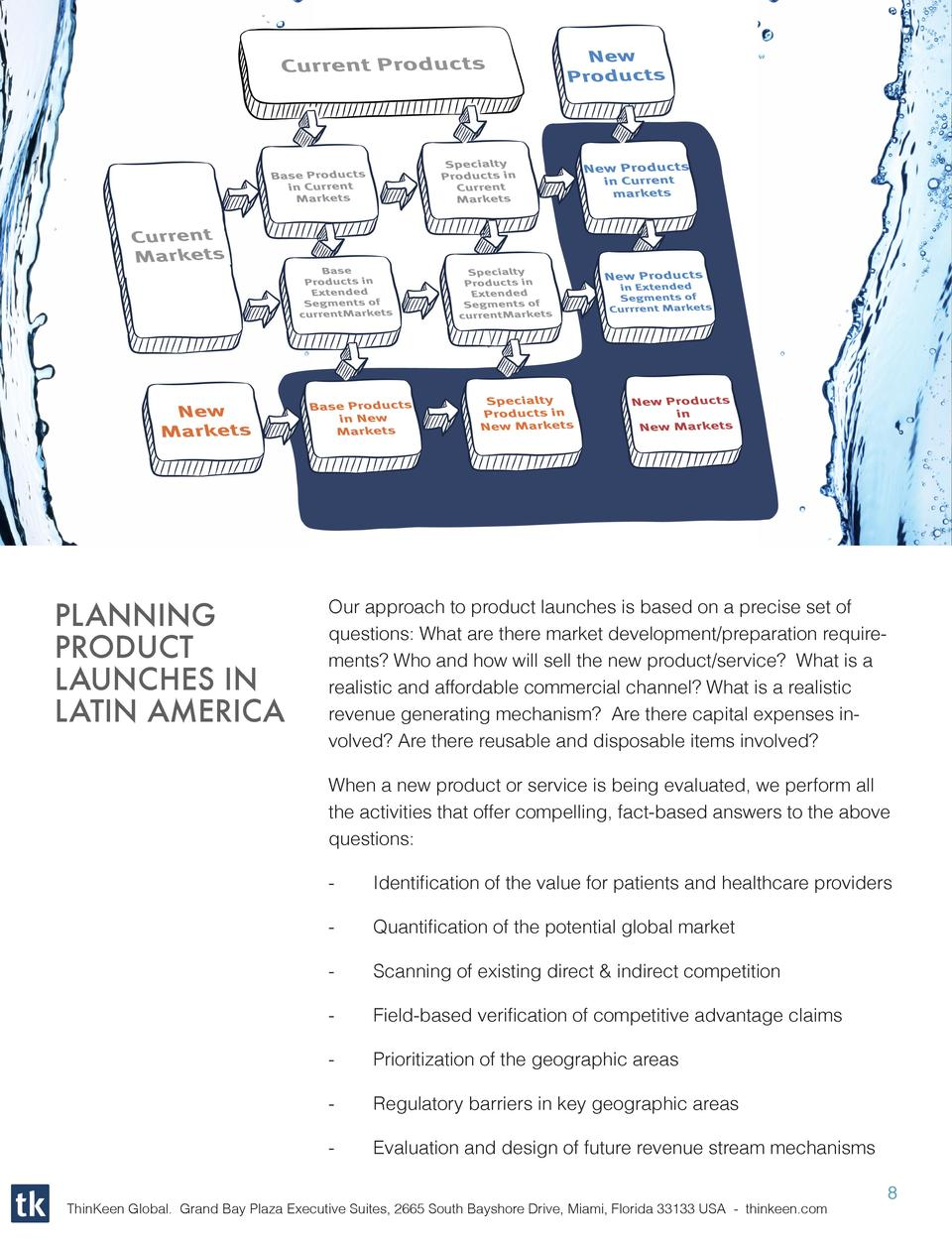 PLANNING PRODUCT LAUNCHES IN LATIN AMERICA  Our approach to product launches is based on a precise set of questions  What ...
