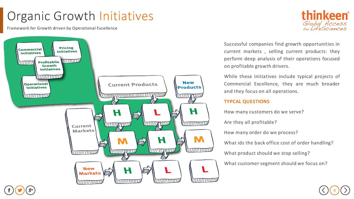 Organic Growth Initiatives Framework for Growth driven by Operational Excellence  Successful companies find growth opportu...