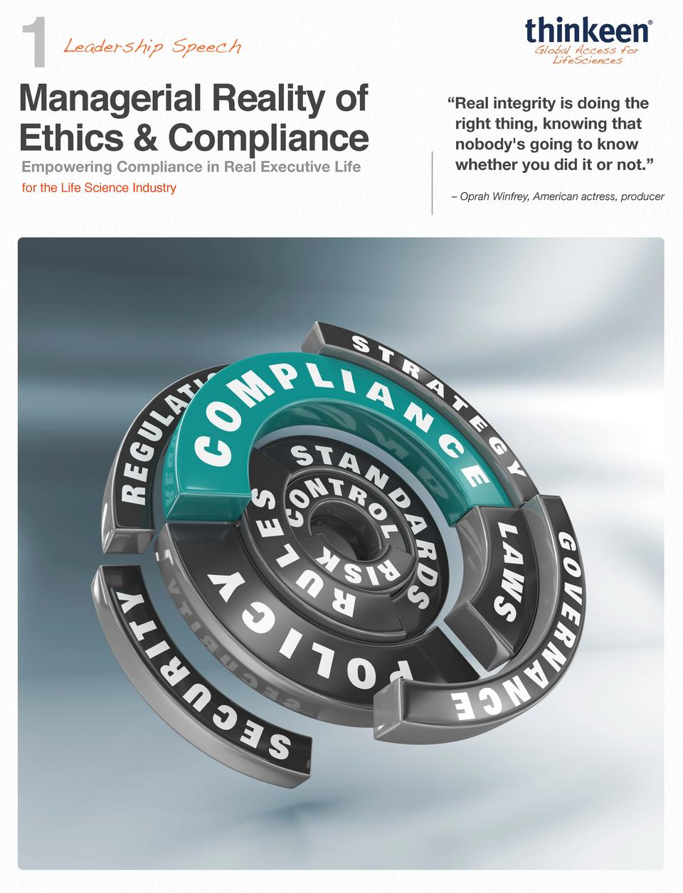 1  Managerial Reality of Ethics   Compliance Empowering Compliance in Real Executive Life for the Life Science Industry   ...