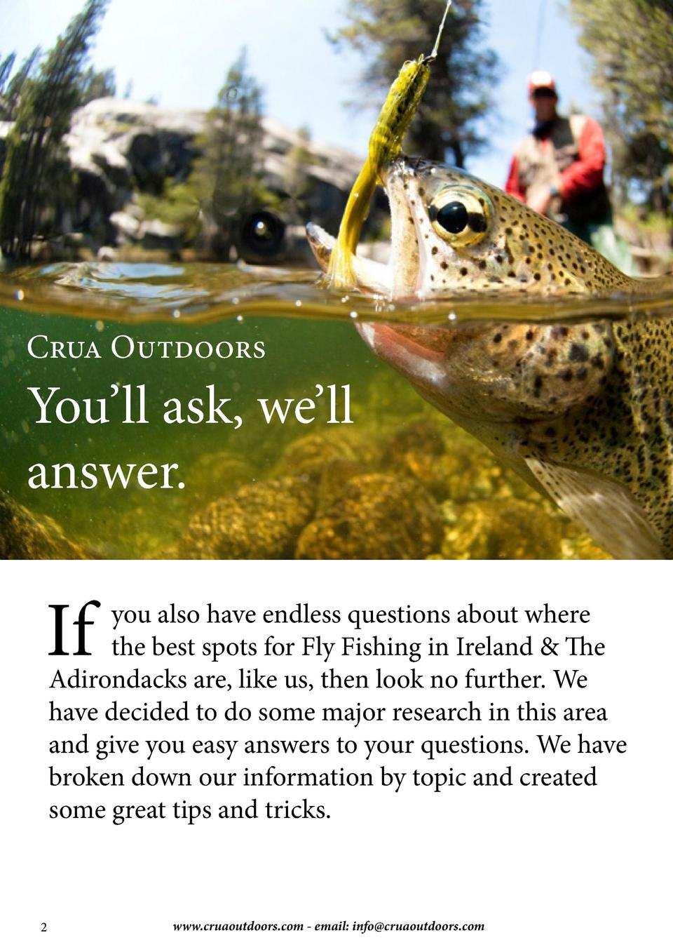 We   ll point you in the right direction.  Featured inside  4 Wild Brown Trout in Ireland  Choose from our 4 top Irish riv...