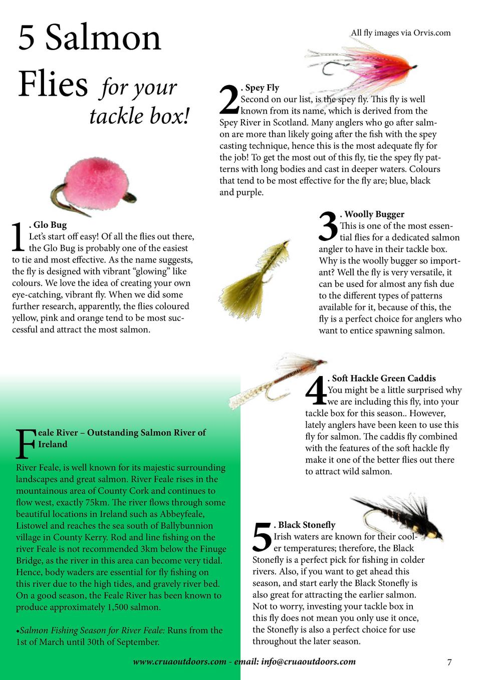 5 Salmon Flies for your  tackle box   All fly images via Orvis.com  2  . Spey Fly Second on our list, is the spey fly. Thi...