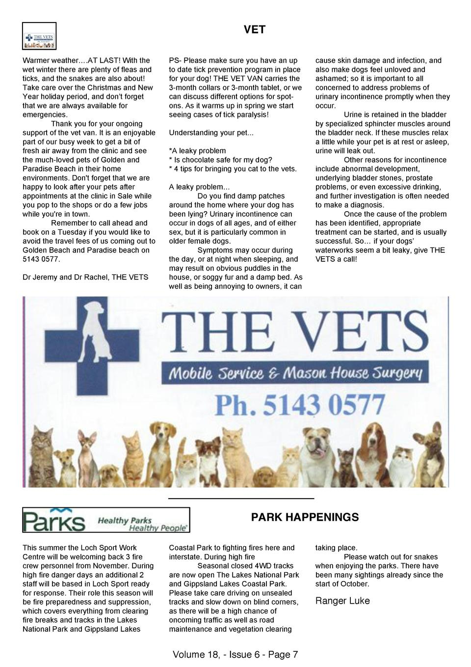 VET Warmer Weather AT LAST With The Wet Winter There Are Plenty Of Fleas And