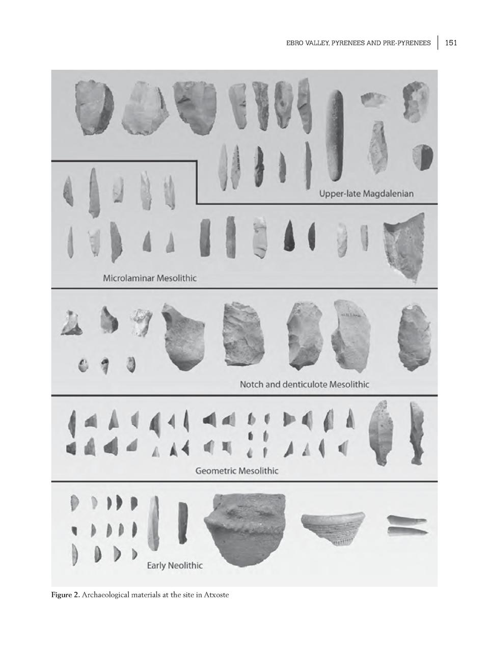 EBRO VALLEY, PYRENEES AND PRE-PYRENEES  Figure 2. Archaeological materials at the site in Atxoste  151