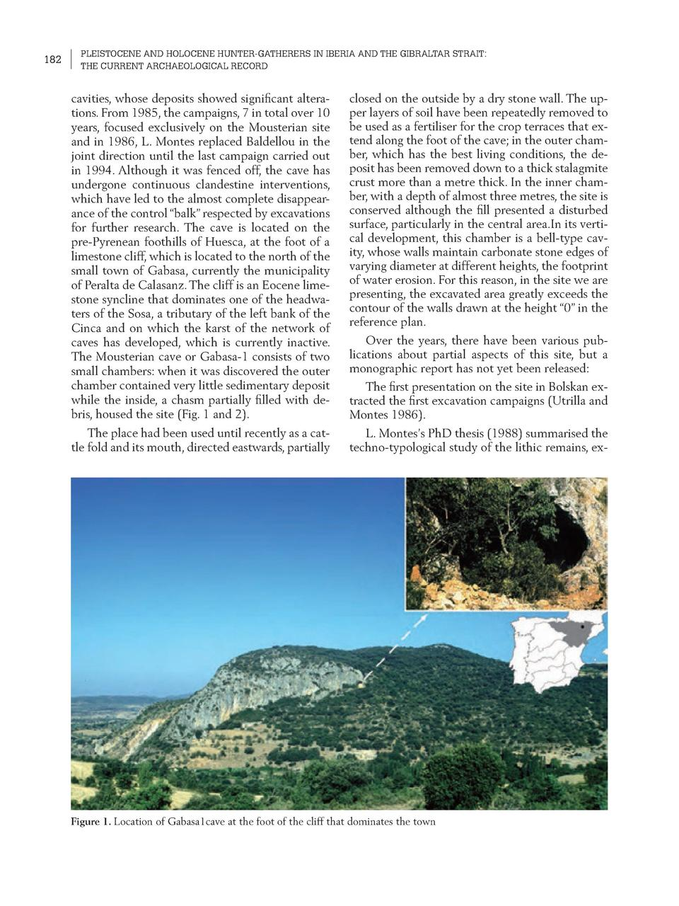 182  PLEISTOCENE AND HOLOCENE HUNTER-GATHERERS IN IBERIA AND THE GIBRALTAR STRAIT  THE CURRENT ARCHAEOLOGICAL RECORD  cavi...