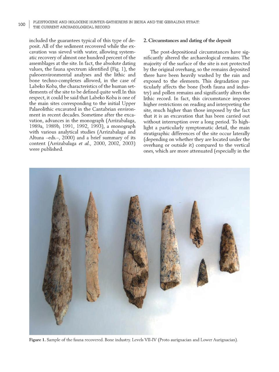 100  PLEISTOCENE AND HOLOCENE HUNTER-GATHERERS IN IBERIA AND THE GIBRALTAR STRAIT  THE CURRENT ARCHAEOLOGICAL RECORD  incl...