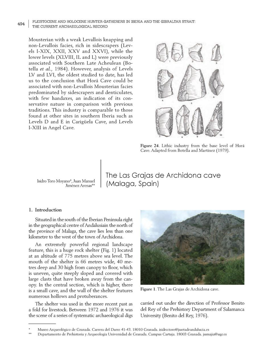 PLEISTOCENE AND HOLOCENE HUNTER-GATHERERS IN IBERIA AND THE GIBRALTAR STRAIT  THE CURRENT ARCHAEOLOGICAL RECORD  494  Mous...