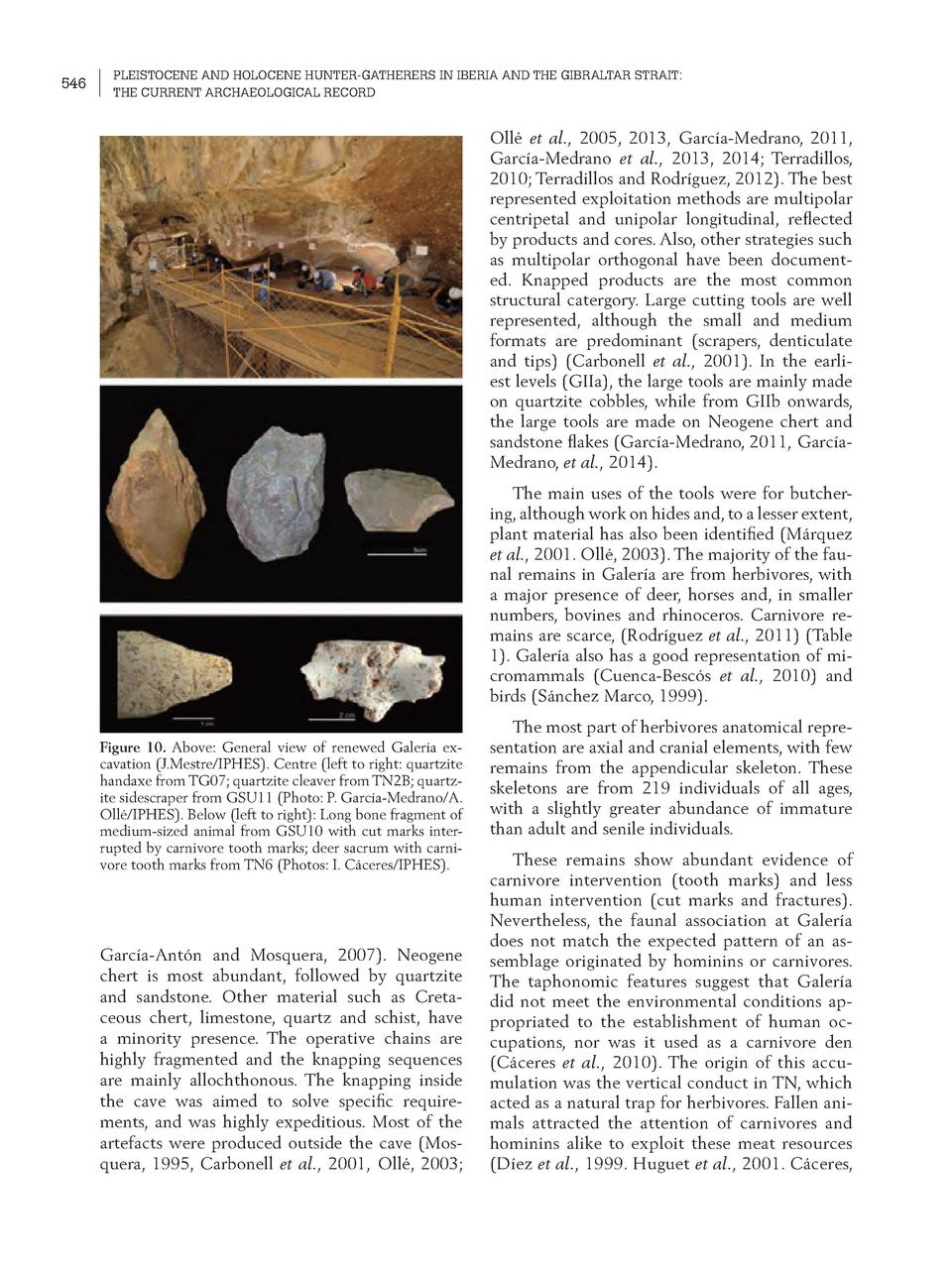 546  PLEISTOCENE AND HOLOCENE HUNTER-GATHERERS IN IBERIA AND THE GIBRALTAR STRAIT  THE CURRENT ARCHAEOLOGICAL RECORD  Oll ...