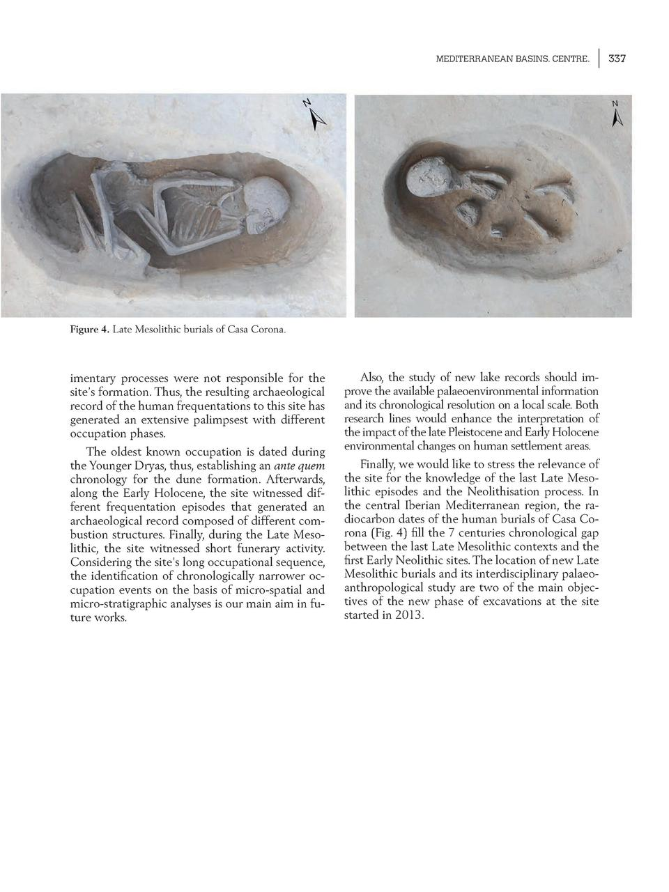 MEDITERRANEAN BASINS. CENTRE.  Figure 4. Late Mesolithic burials of Casa Corona.  imentary processes were not responsible ...