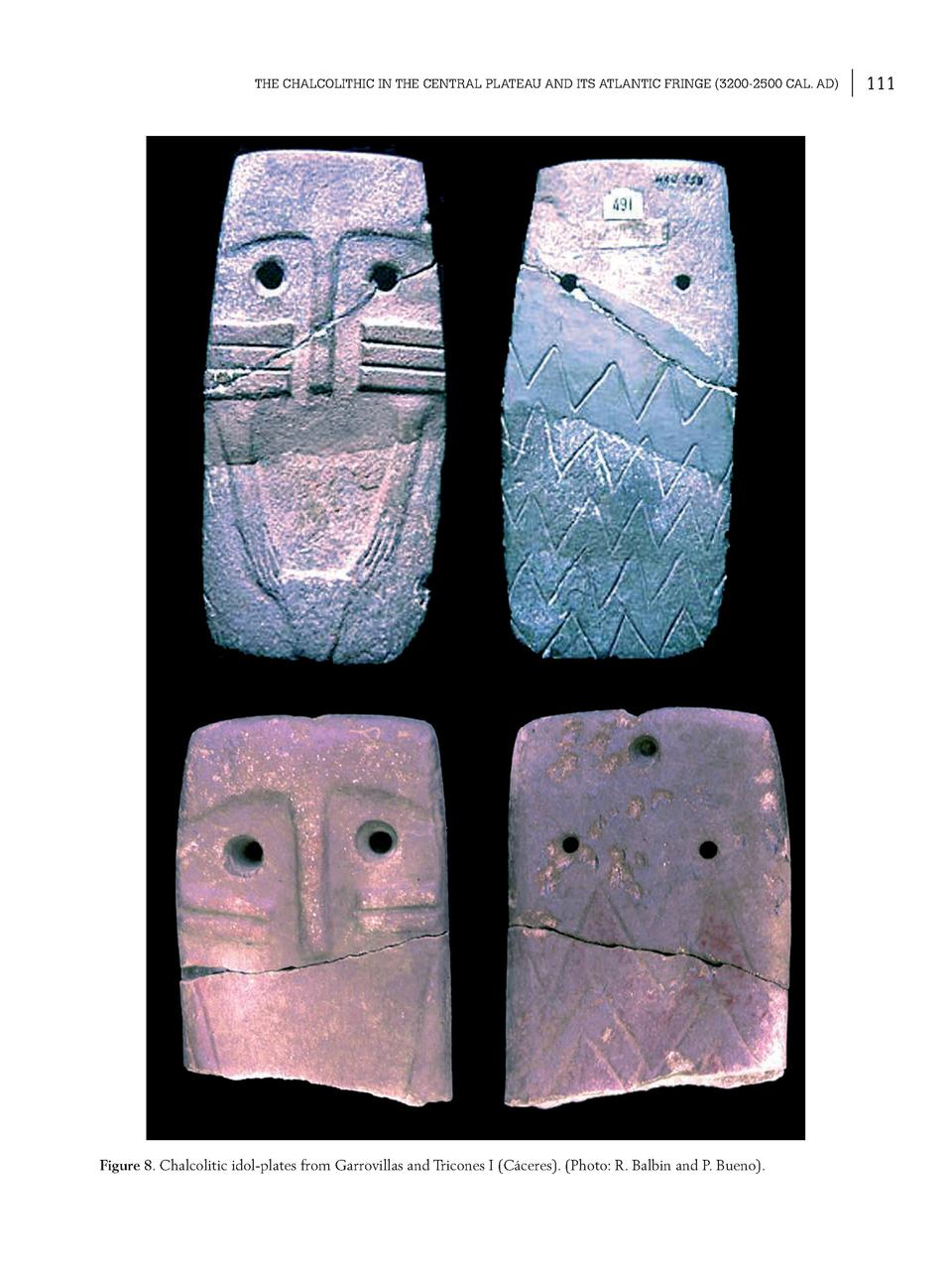THE CHALCOLITHIC IN THE CENTRAL PLATEAU AND ITS ATLANTIC FRINGE  3200-2500 CAL. AD   Figure 8. Chalcolitic idol-plates fro...