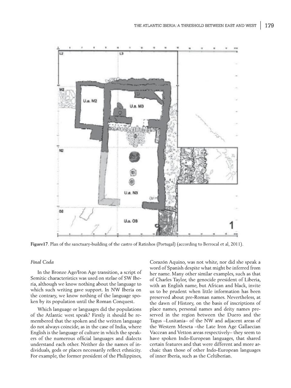 THE ATLANTIC IBERIA  A THRESHOLD BETWEEN EAST AND WEST  Figure17. Plan of the sanctuary-building of the castro of Ratinhos...