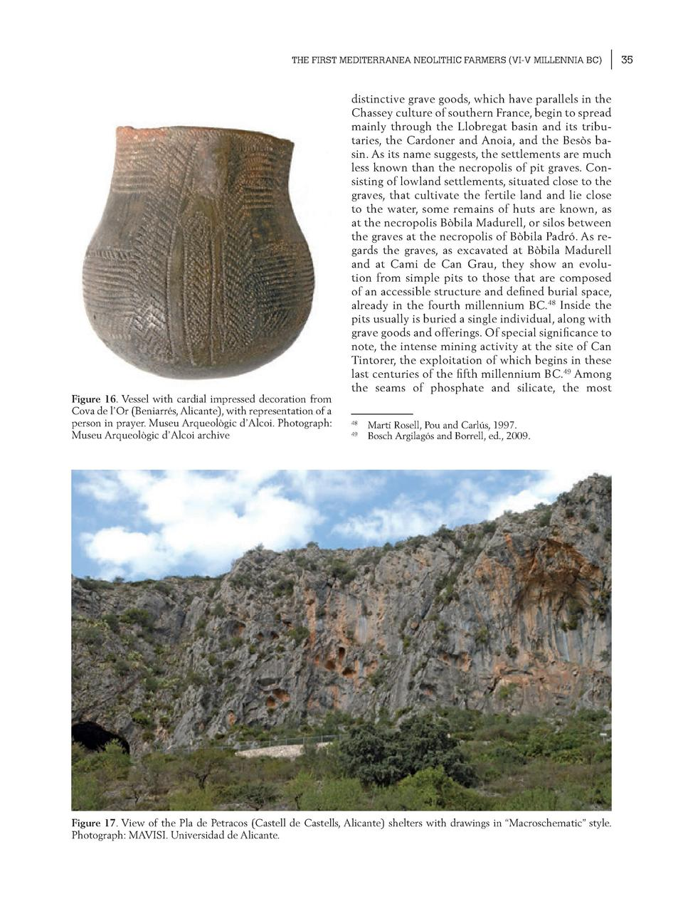 THE FIRST MEDITERRANEA NEOLITHIC FARMERS  VI-V MILLENNIA BC   Figure 16. Vessel with cardial impressed decoration from Cov...