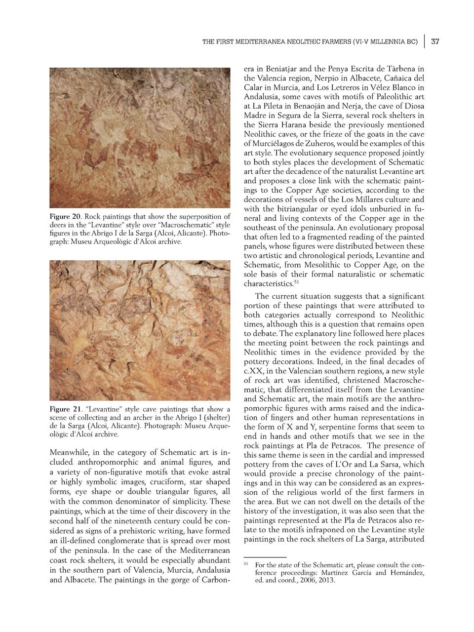 THE FIRST MEDITERRANEA NEOLITHIC FARMERS  VI-V MILLENNIA BC   Figure 20. Rock paintings that show the superposition of dee...