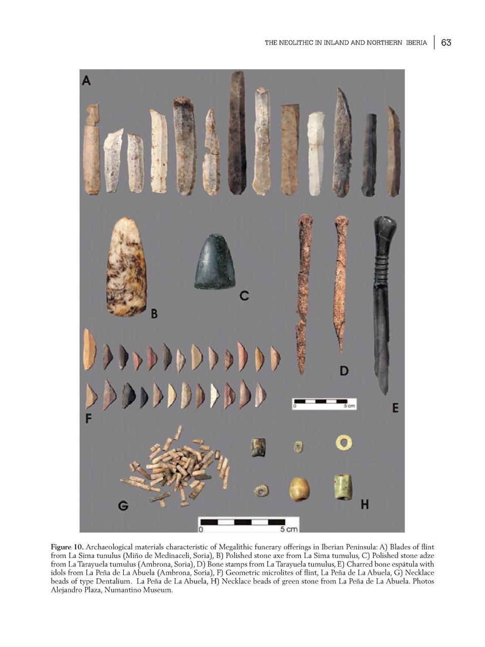 THE NEOLITHIC IN INLAND AND NORTHERN IBERIA  Figure 10. Archaeological materials characteristic of Megalithic funerary off...