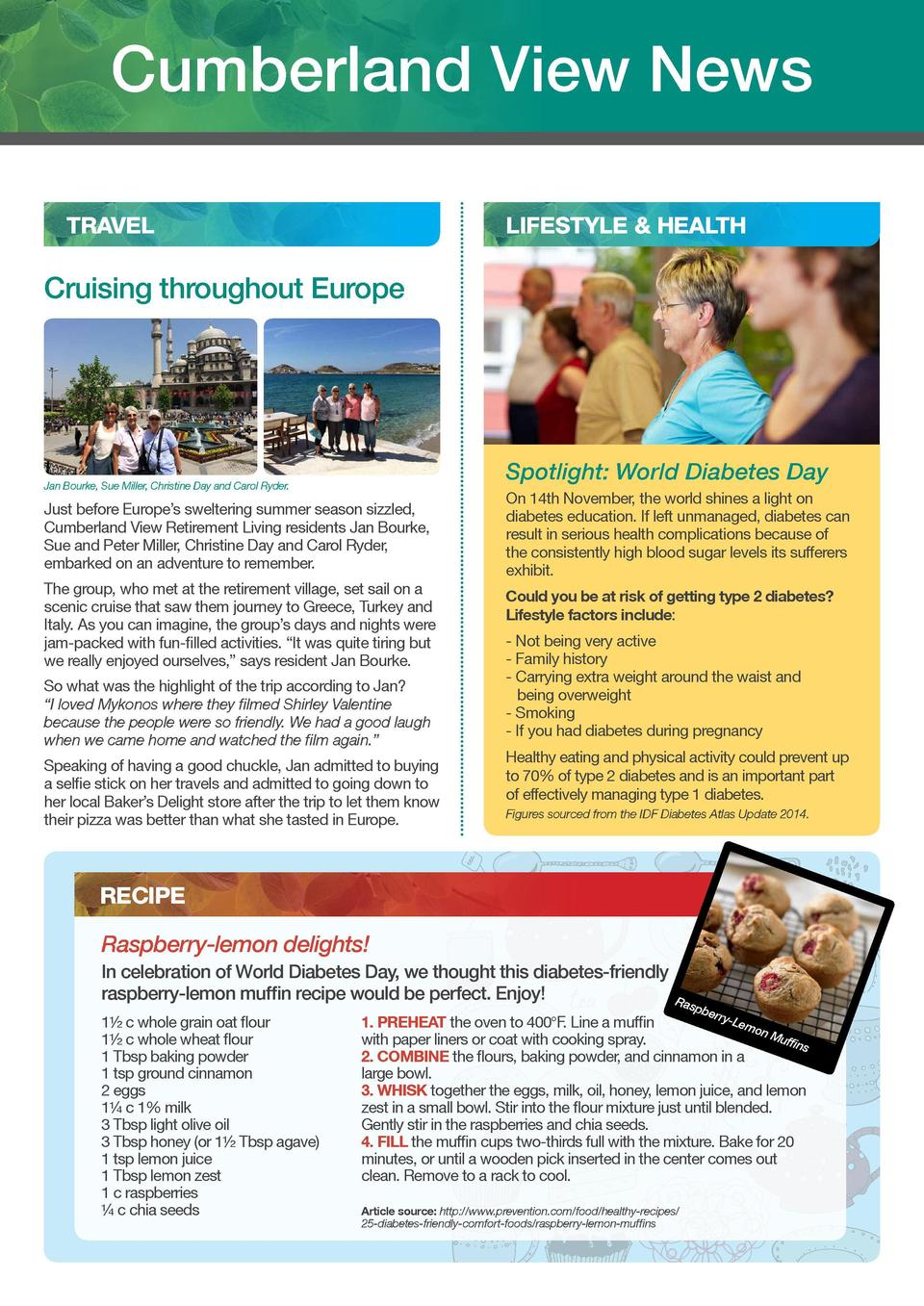 cumberland view  Cumberland View News TRAVEL  LIFESTYLE   HEALTH  ENTERTAINMENT Shirley Bradley  Cruising throughout Europ...