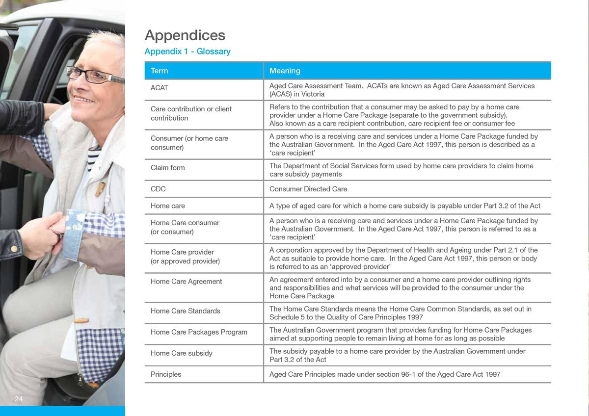 Appendices  Appendix 2 - Your Home Care Budget Your Home Care Package will be funded from the following mix   Appendix 1 -...