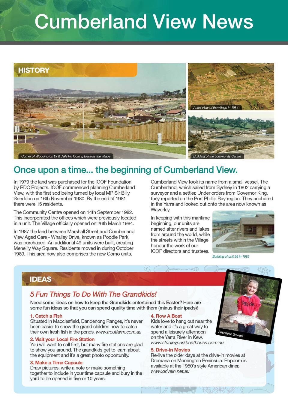 cumberland view  Cumberland View News  better living, quality living  ENTERTAINMENT HISTORY  Corner of Woodington Dr   Jel...