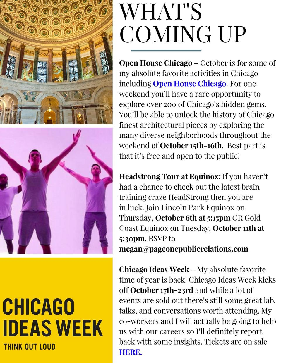 WHAT S COMING UP Open House Chicago     October is for some of my absolute favorite activities in Chicago including Open H...