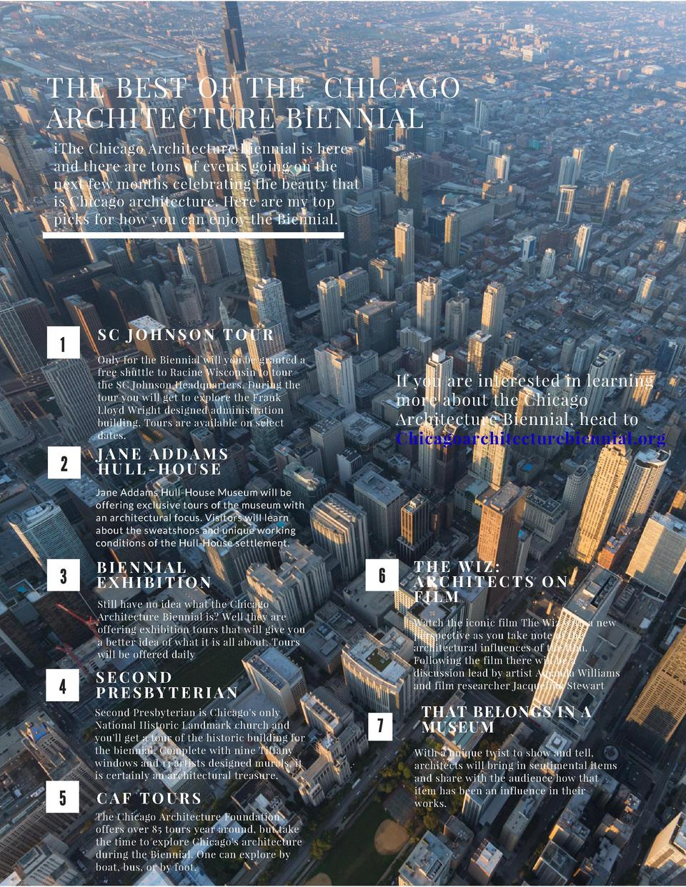 THE BEST OF THE CHICAGO ARCHITECTURE BIENNIAL iThe Chicago Architecture Biennial is here and there are tons of events goin...