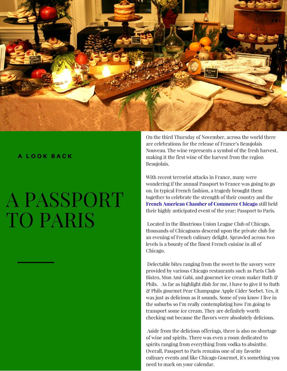 A  OOL A  A PASSPORT TO PARIS  On the third Thursday of November, across the world there are celebrations for the release ...