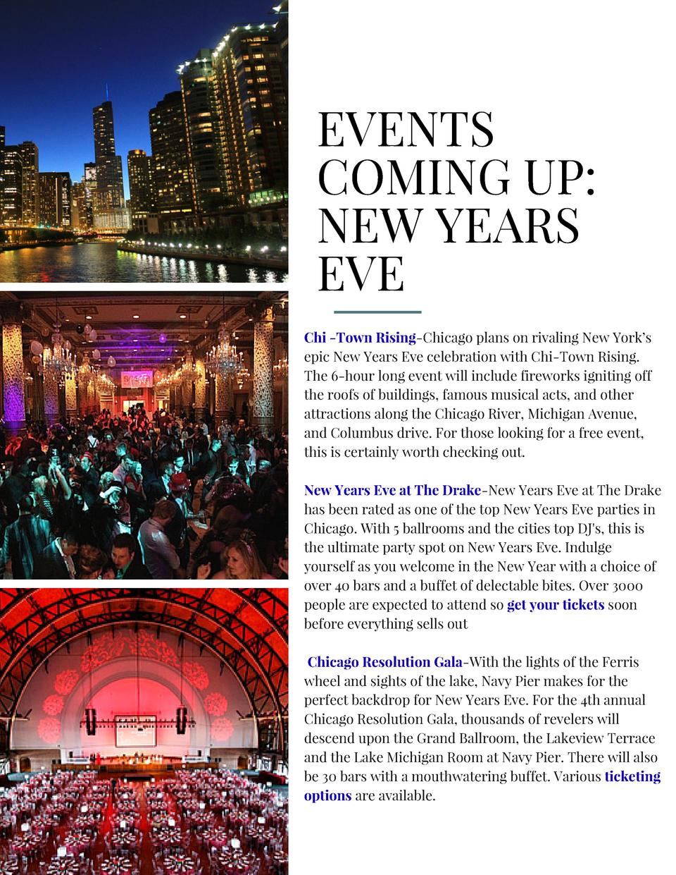 EVENTS COMING UP  NEW YEARS EVE Chi -Town Rising-Chicago plans on rivaling New York   s epic New Years Eve celebration wit...