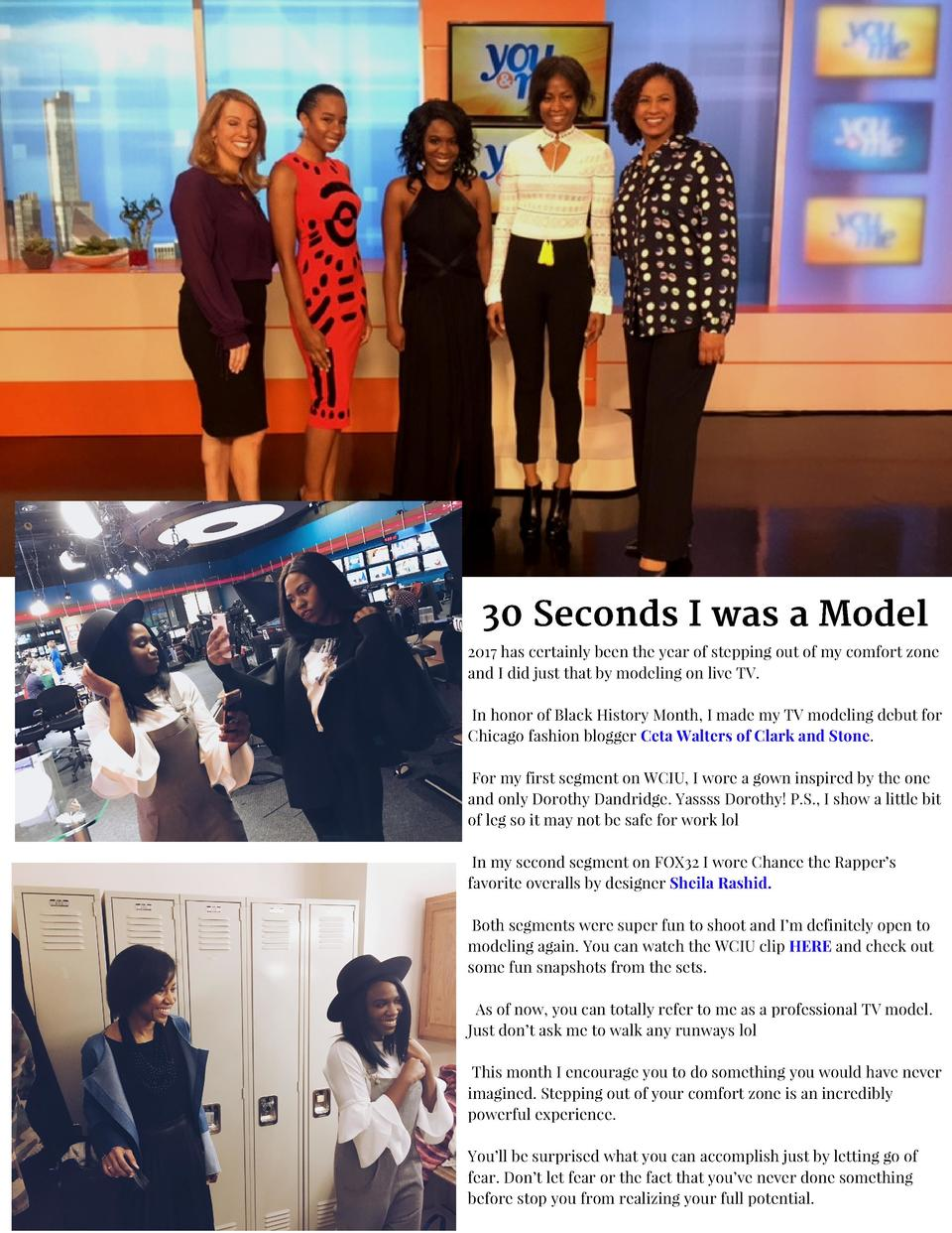 30 Seconds I was a Model 2017 has certainly been the year of stepping out of my comfort zone and I did just that by modeli...