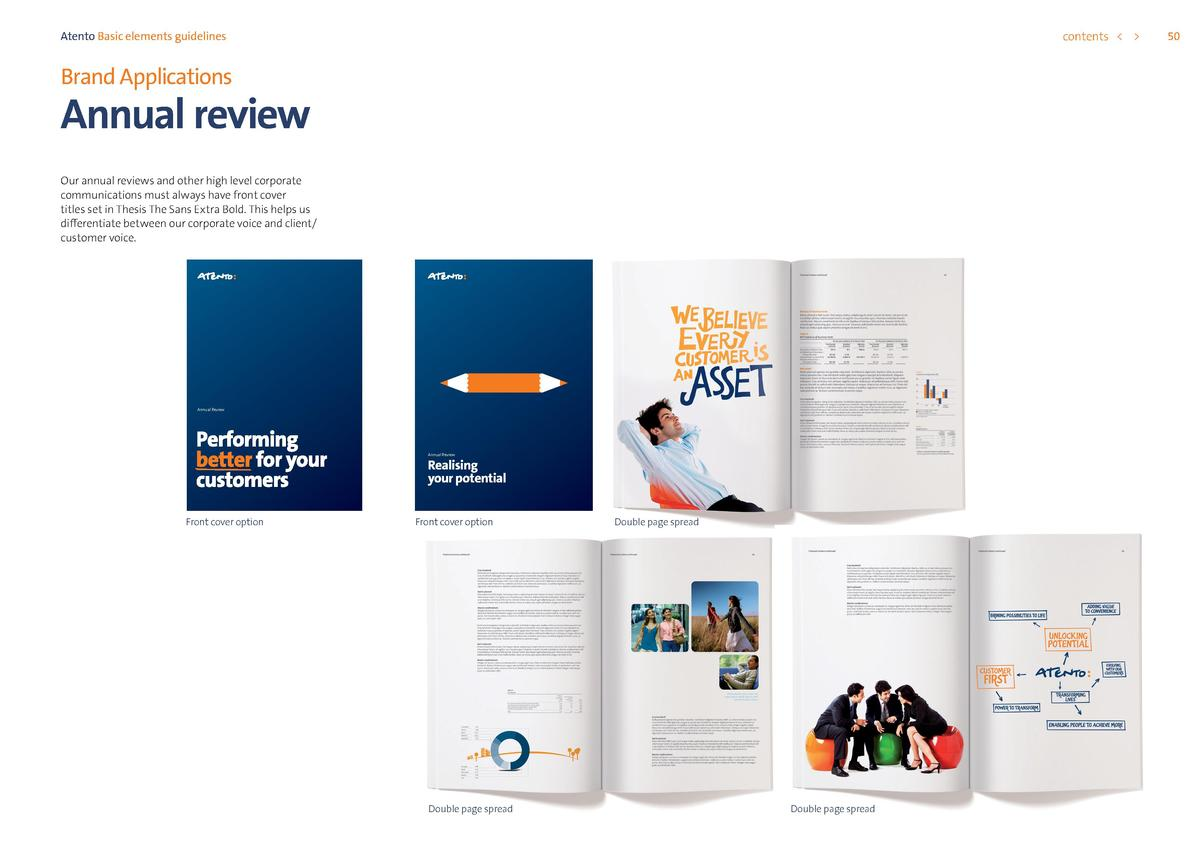 contents      Atento Basic elements guidelines  Brand Applications  Annual review Our annual reviews and other high level ...