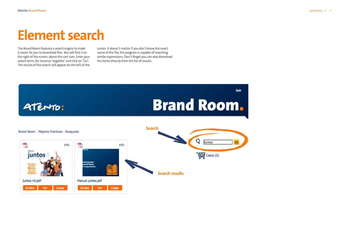 contents      Atento Brand Room  Element search The Brand Room features a search engine to make it easier for you to downl...