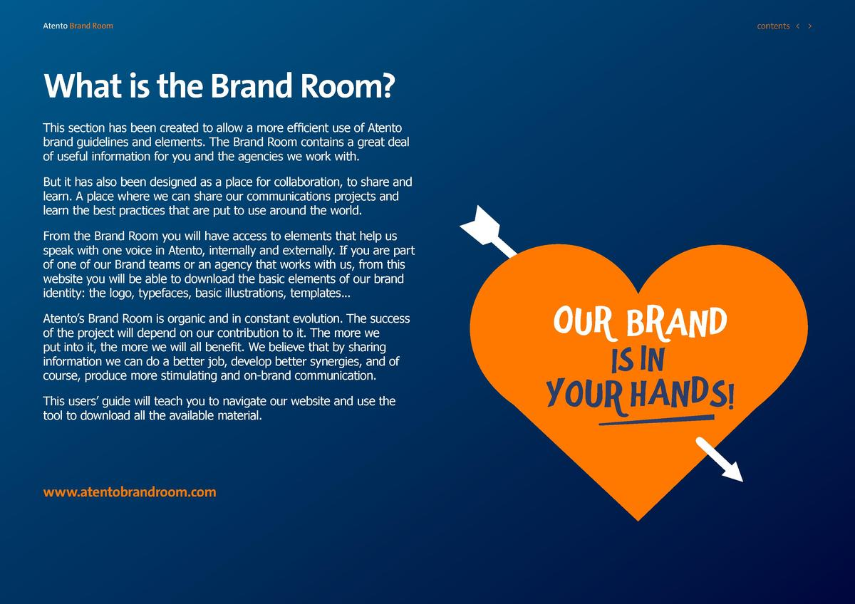 contents      Atento Brand Room  What is the Brand Room  This section has been created to allow a more efficient use of At...