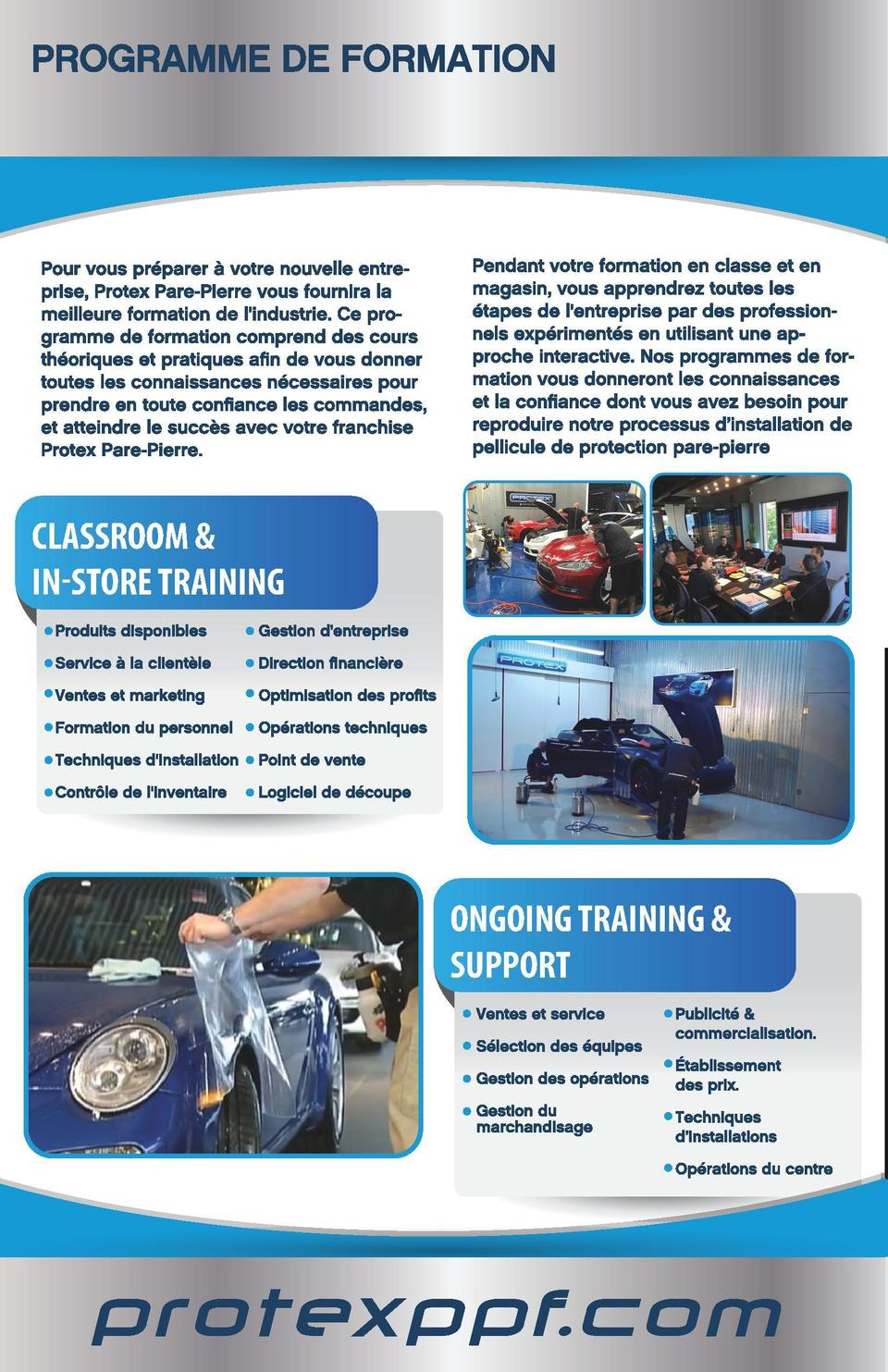 Protex Franchise_mode Cahier_FR.pdf  5  15-09-29  15 40  PROTECTION PARE-PIERRE  C  M  CLASSROOM   IN-STORE TRAINING  J  C...
