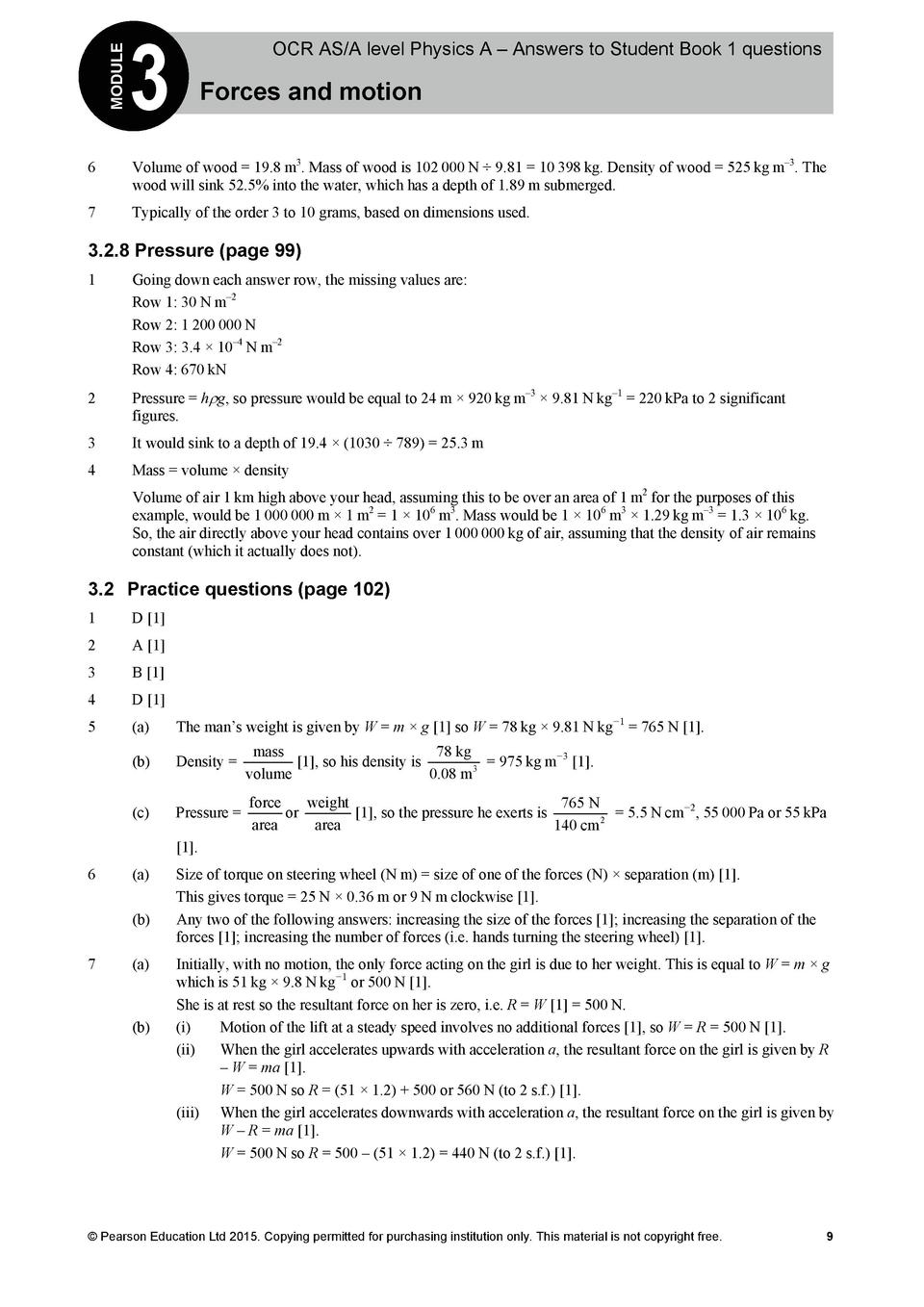 physics 1 questions and answers