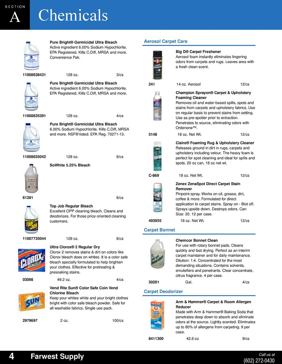 English Catalog Fitti Rainbow Regular S 12x12 12 Bags Section Chemicals A Pure Bright Germicidal Ultra Bleach Active Ingredient 600 Sodium Hypochlorite Epa Registered