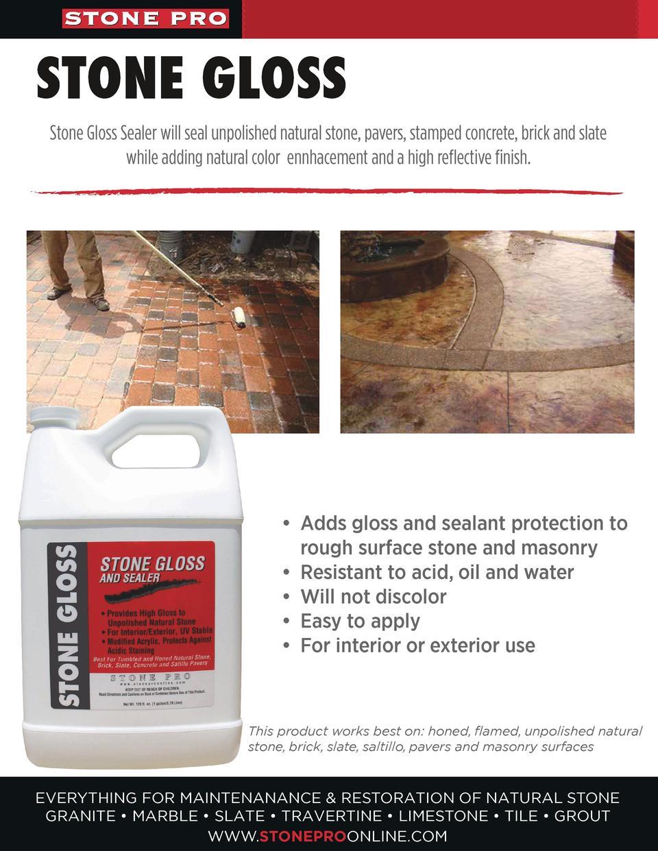 100 Stone Restoring And Sealing Sealant Paver