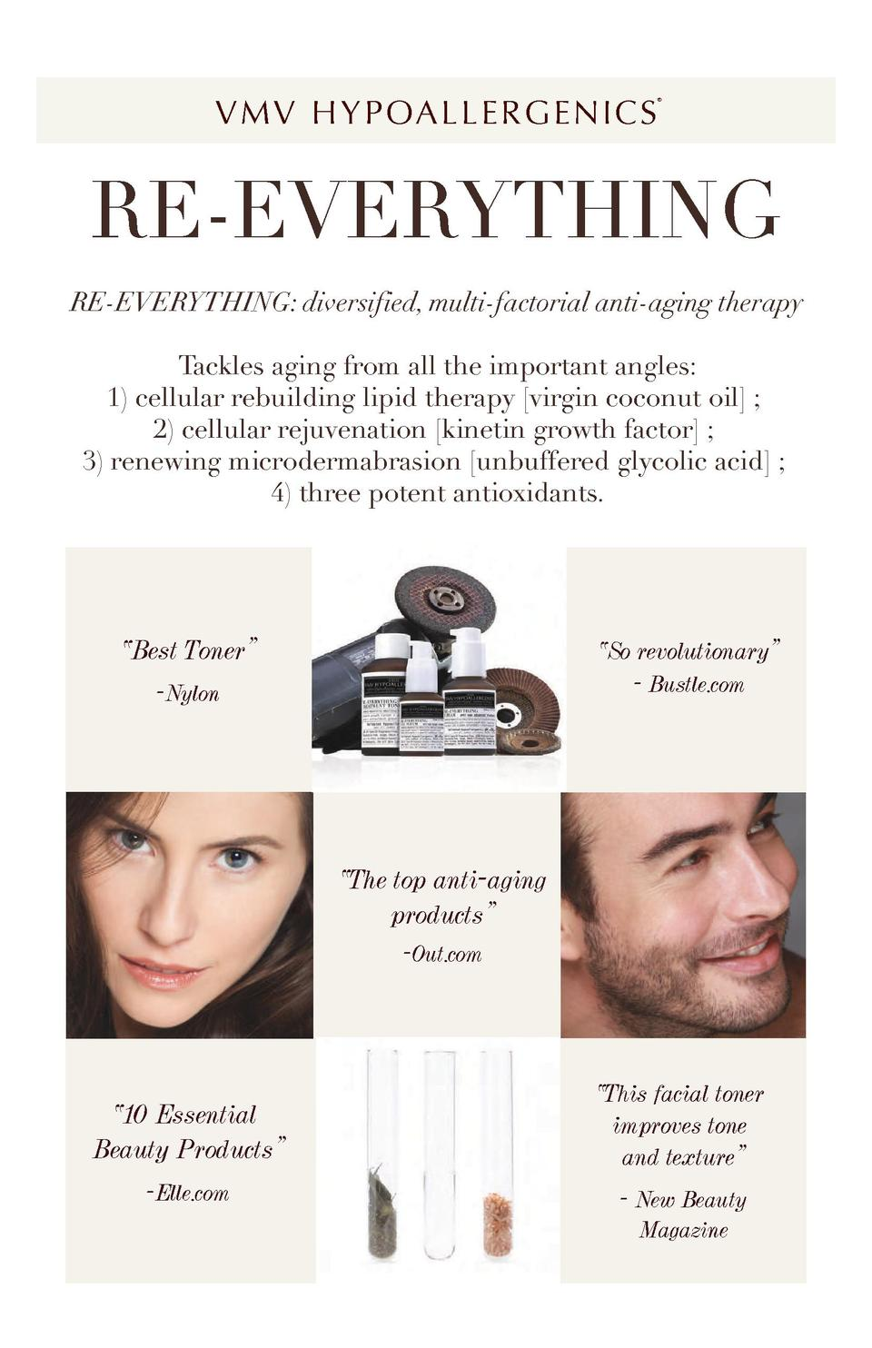 V M V H Y P OA L L E R G E N I C S      RE-EVERYTHING RE-EVERYTHING  diversified, multi-factorial anti-aging therapy Tackl...