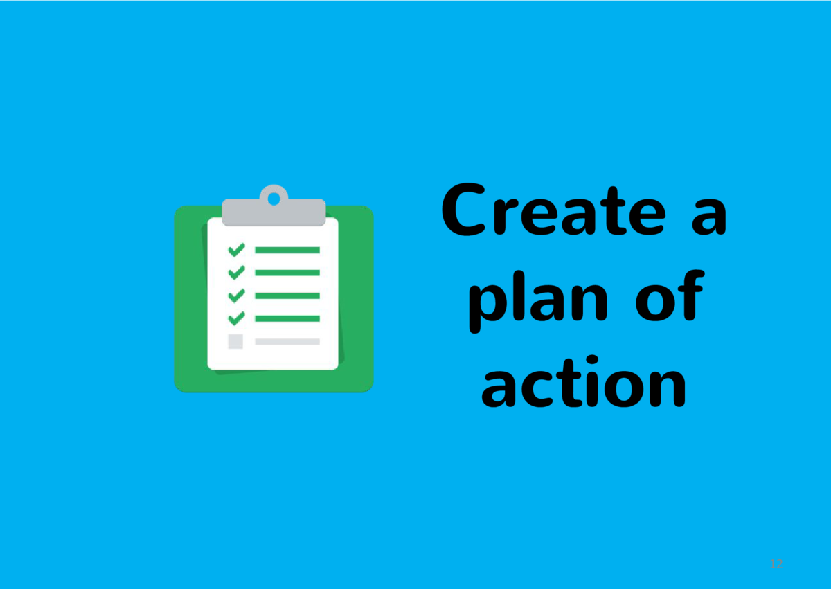 Create a plan of action 12