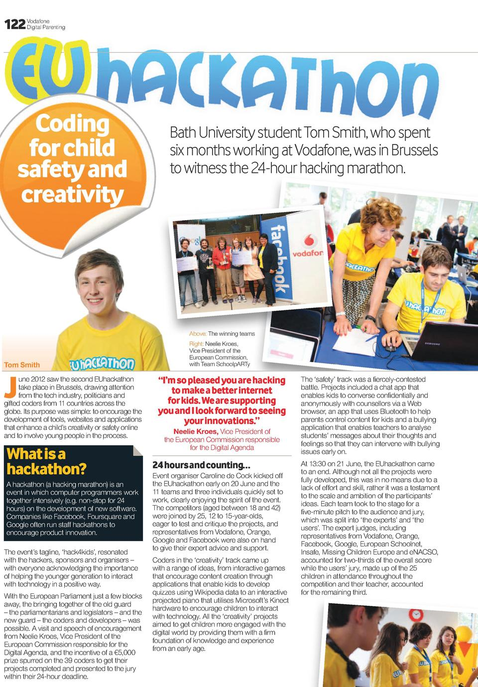 122  Vodafone Digital Parenting  Coding for child safety and creativity  Bath University student Tom Smith, who spent six ...
