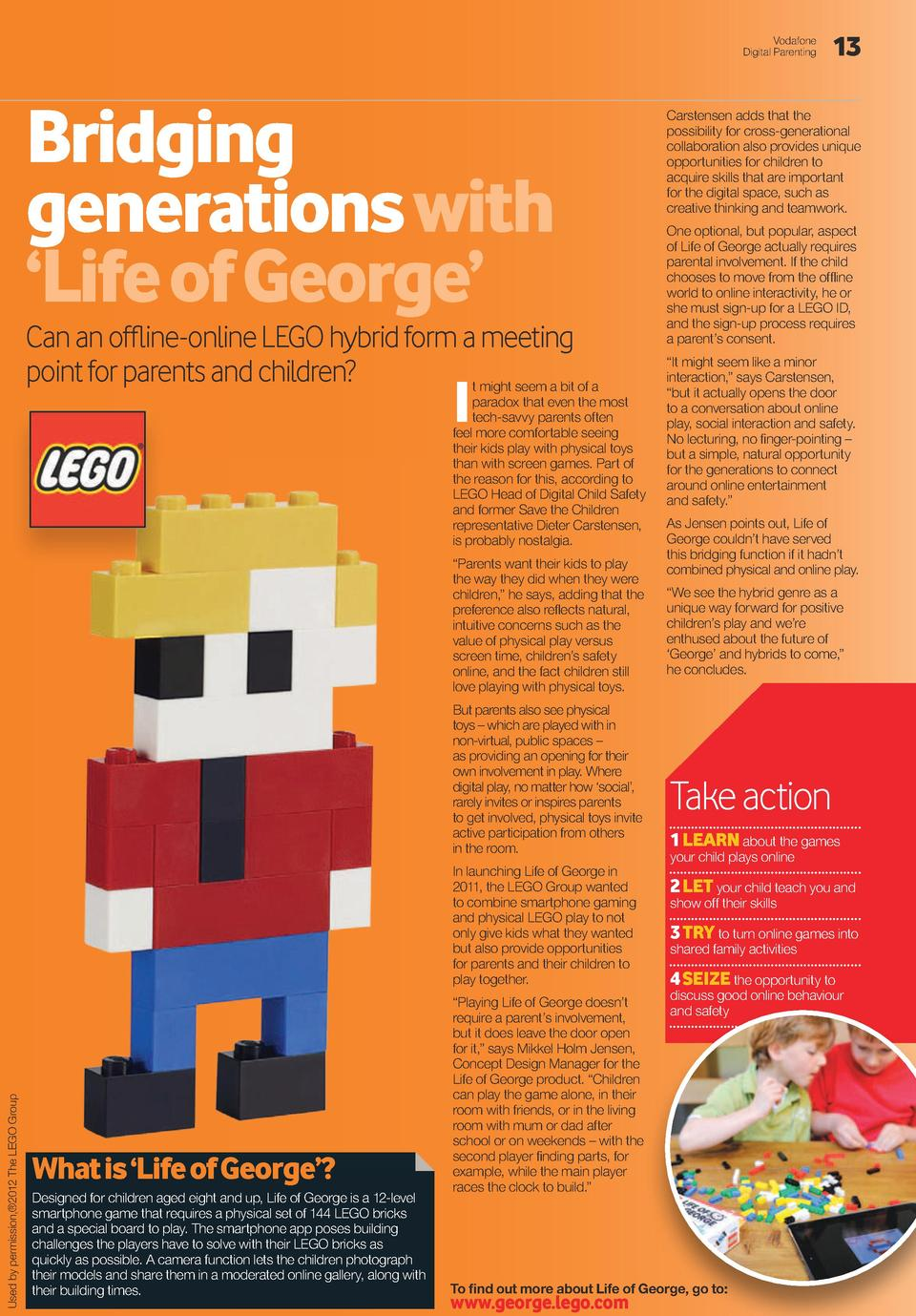 Vodafone Digital Parenting  Bridging  generations with     Life of George     Can an offline-online LEGO hybrid form a mee...
