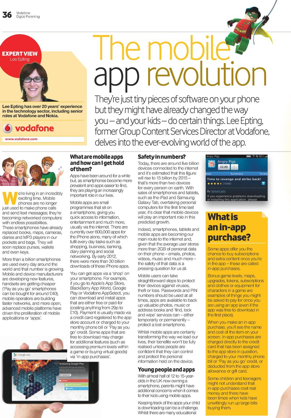 36  Vodafone Digital Parenting  The mobile app revolution   EXPERT VIEW Lee Epting  Lee Epting has over 20 years    experi...