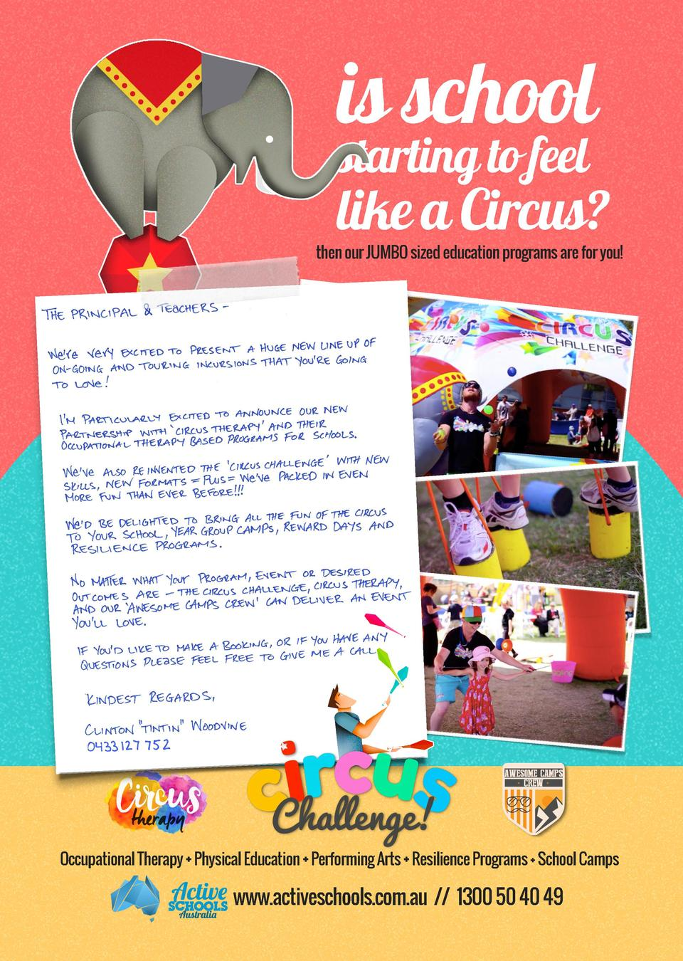 is school starting to feel  like a Circus   then our JUMBO sized education programs are for you   Occupational Therap...