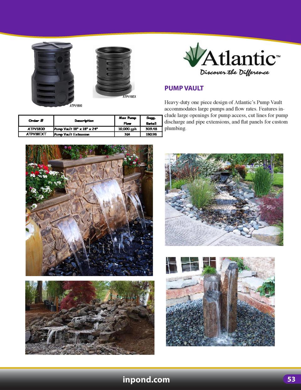 PONDLESS VAULTS   MATRIX  ECOBLOX  Redesigned water matrix provides 31.5 gallons of water storage with improved strength a...